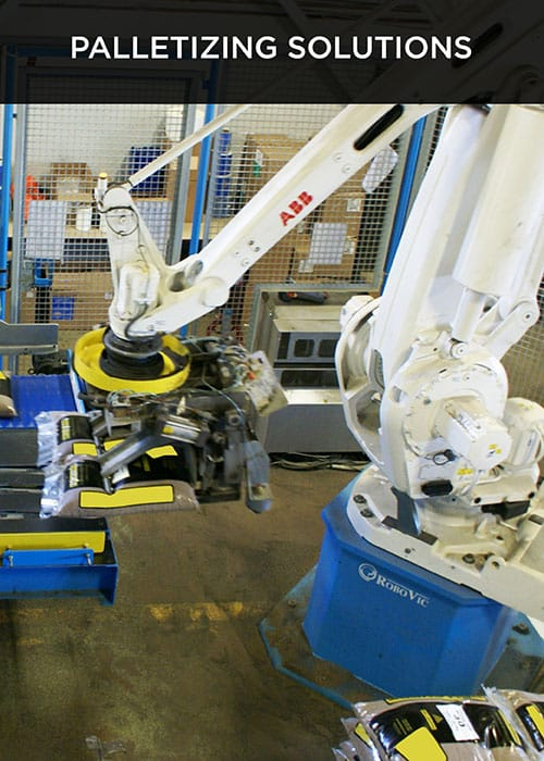 robovic industrial automation for palletizing systems