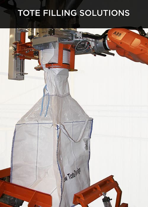 robovic industrial automation for tote filling solution & palletizing systems