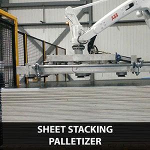 sheet stacking palletizing