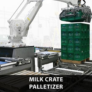 Picture of milk crate palletizing
