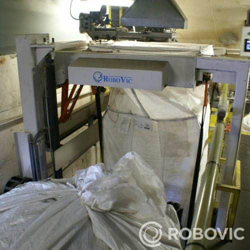 Fin de ligne de production d'un système de remplissage de big bag