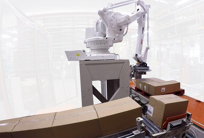 Photo d'une prise simple d'un Robot palettiseur