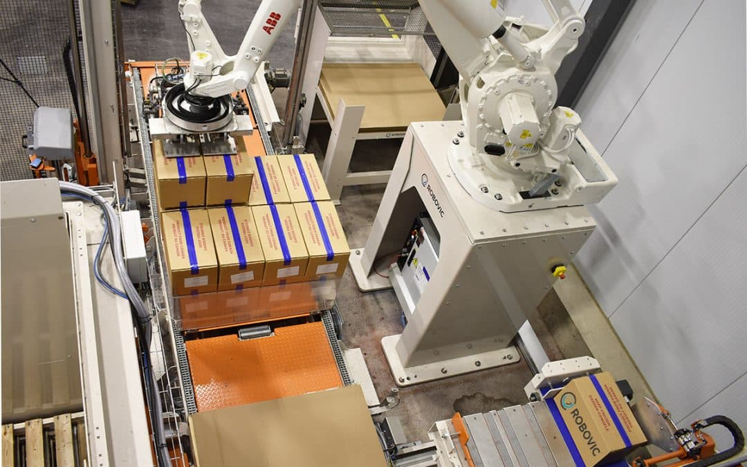 Palletizing gripper : why control product deposit rather than letting it drop ?