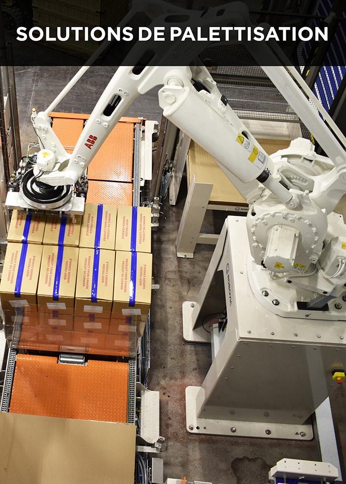Robovic automatisation industrielle et palettisation robotisée