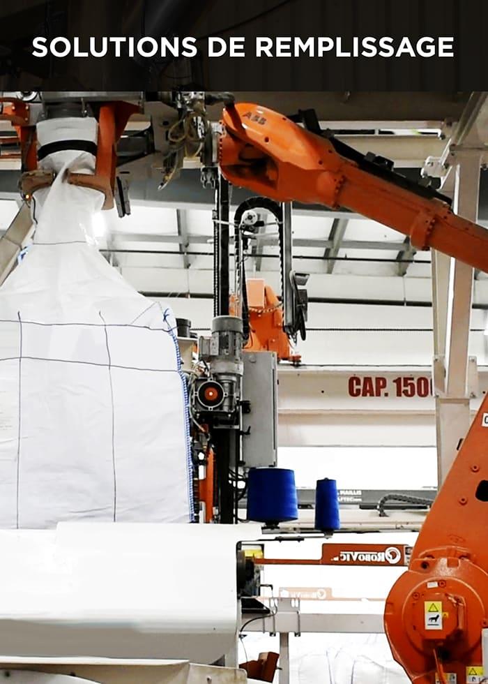 Robovic automatisation industrielle pour solution de remplissage de tote & palettisation robotisée