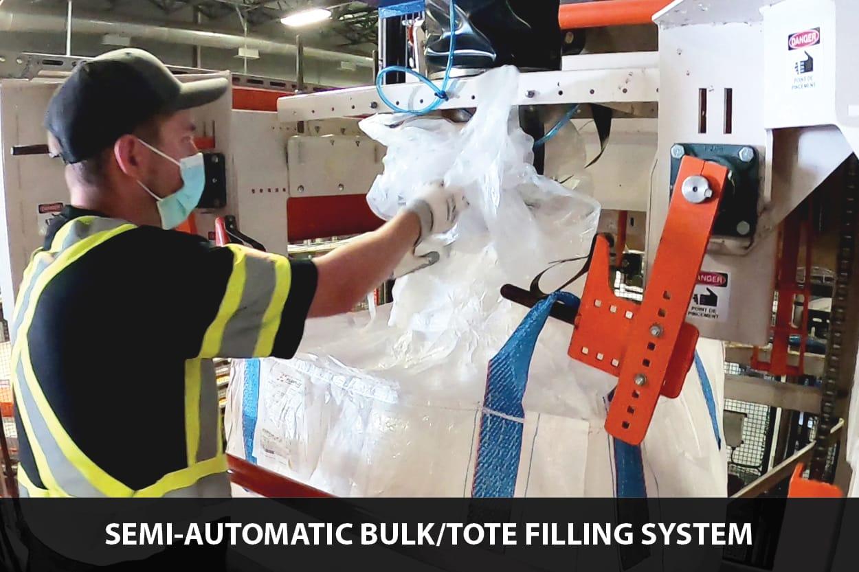semi-auto tote filling system